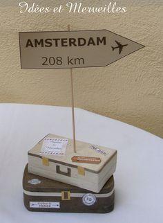 marque table thème voyage - Idees et Merveilles