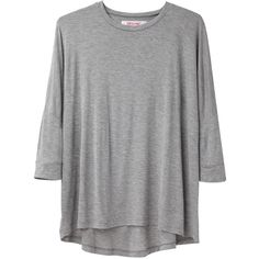 Organic by John Patrick Dolman Sleeve Tee (105 AUD) ❤ liked on Polyvore featuring tops, t-shirts, shirts, sweaters, t shirts, heather grey t shirt, heather gray t shirt, heather grey shirt and relax t shirt