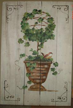 pintura na madeira.