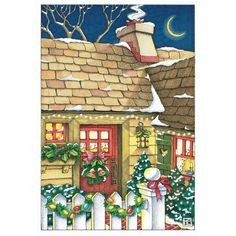 """""""Christmas at my Door"""" by Mary Engelbreit"""