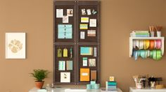 Transform a pair of plain window shutters into a great-looking organizer. The result is a fun, functional alternative to standard bulletin boards.