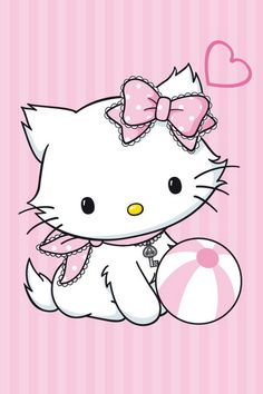 What a cute interpretation of Hello Kitty! (Sorry I have to correct you.  This is Pretty Kitty, Hello Kitty's pet :))