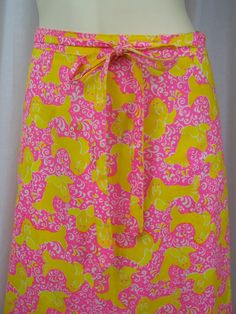 RESERVED Vintage Lilly Pulitzer wrap skirt by momandpopcultureshop