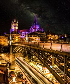 Lausanne by Night by Girardet Karl on 500px