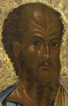Detailed view: PP022. Saint Paul the Apostle- exhibited at the Temple Gallery, specialists in Russian icons