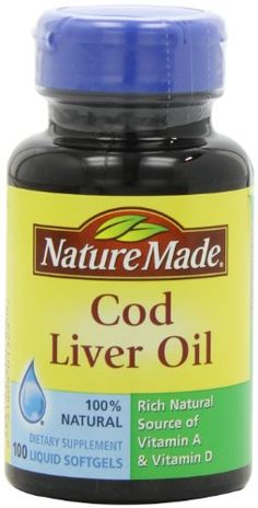 Nature Made Cod Liver Oil with Vitamin A and D, 100 Softgels (Pack of 6) *** Read more reviews of the product by visiting the link on the image.