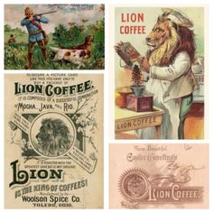 """Connecting Hawaii, Ohio, and coffee. Part of the first great advertising campaign in history, LION COFFEE, """"The cup that cheers but not inebriates""""   Dating back to 1864, and  established, at No. 58 Summit Street, Toledo, Ohio a new coffee roasting and spice grinding business was born. Now owned by the Hawaii Coffee Company in Honolulu, the Lion brand lives.  The first of my iconic off the beaten path side trips. Lion Coffee, City Of Glass, Picture Albums, Toledo Ohio, Coffee Company, Lion Brand, Coffee Roasting, Advertising Campaign, Grinding"""