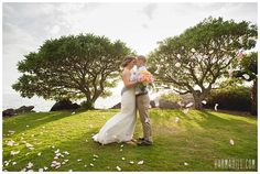A Maui Sunset Wedding at Kukahiko Estate. Such a romantic setting right at the ocean!