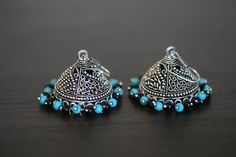 Big Oxidized Jhumka in Assorted Colors