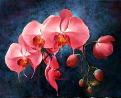 PEINTURE :  COROMINAS LUDIVINE -  BELLES ET PARFUMÉS Oil on Canvas Format: 6 F soit 41 x 33cm ♥♥