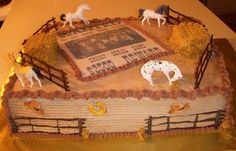 cowboy sheet cakes | western wanted poster cake 2 sheet cake with butter cream icing the ...