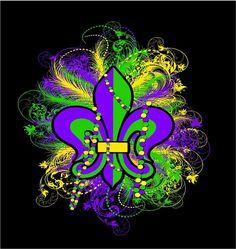 Mardi Gras season has begun Mardi Gras Beads, Mardi Gras Party, Mardi Gras Decorations, Holiday Decorations, New Orleans Mardi Gras, New Orleans Louisiana, 16th Birthday, Bead Art, Green And Purple