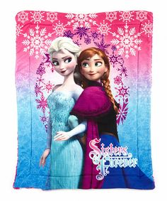 Frozen 'Sisters Forever' Sherpa Blanket | Zulily