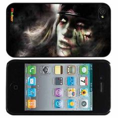 Zombie,living Dead Girl Fashion Design Hard Case Cover Skin Protector for Iphone 4 4s Iphone4 At