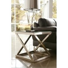 Signature Design By Ashley - Coylin End Table Table Furniture, Living Room Furniture, Home Furniture, Mega Furniture, Furniture Stores, Furniture Ideas, Furniture Design, Nickel Finish, Brushed Nickel