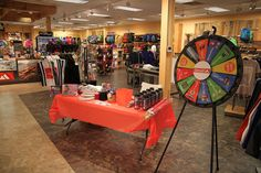 The prize wheel by Denali. Buy this Prize Wheel at http://PrizeWheel.com/products/floor-prize-wheels/floor-and-table-prize-wheel-12-24-slot-adaptable/.