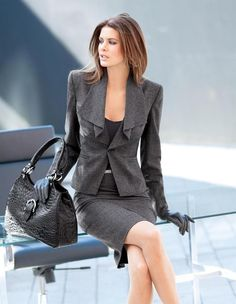 Skirt Suits Designs For Work 2017