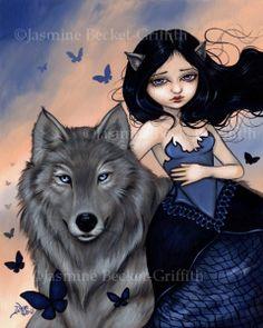 Silver Wolf- Jasmine Becket-Griffith