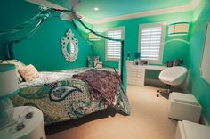 Green Wall Paint Color Schemes Preteen Bedroom Theme Decor Ideas