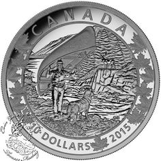 Coin Gallery London Store - Canada: 2015 $10 Canoe Across Canada Wondrous West Silver Coin, $44.95