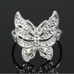 sterling silver butterfly ring $9.99