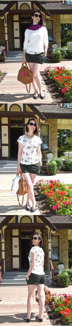 Look da Cinthia Ferreira do MakeUp Atelier. Shorts também vai bem no Outono. #ModaNoMake