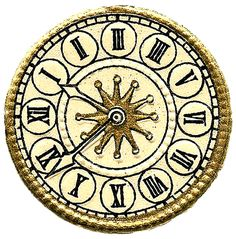 Vintage Images - More Cute Clock Faces - Steampunk - The Graphics Fairy