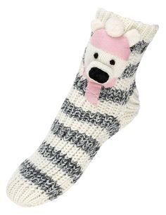 Cotton Rich 3D Polar Bear Knitted Slipper Socks