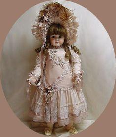 "Doll Dress 29"" in silk  ♥ Dollightfully Yours ♥ by Cheryl Imbornone"