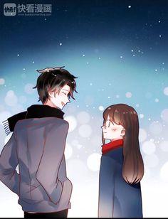 Chasing the Sun Manga Cute, Manga Anime Girl, Anime Oc, Cute Anime Pics, Anime Love Couple, Couple Cartoon, Anime Couples, Cute Couples, Manhwa