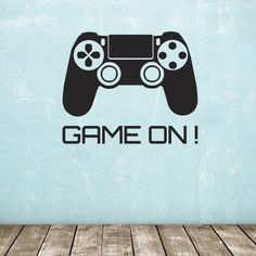 Our Game On Wall Sticker features a games controller decal & text. Ideal for a teenager or child's room. Self-adhesive - available in two sizes.