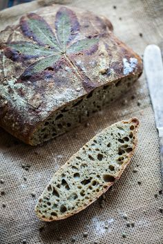 Cannabis bread / Chleb konopny ~ I couldn't find the recipe for this at the site but the look of this bread is beautiful.