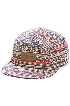 The Marrakesh 5 Panel Hat in Tan by Obey - Just wish it was the same print, but in Black and White