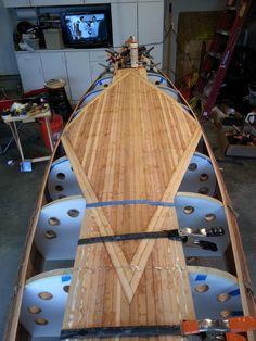 Wood Canoe, Wooden Kayak, Canoe And Kayak, Sea Kayak, Canoe Plans, Fishing Pole Holder, Steam Bending Wood, Wooden Boat Building, Diy Boat