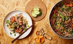 Thomasina Miers' recipe for soba noodles with rainbow vegetables in a sesame seed dressing   Life and style   The Guardian