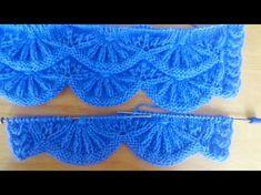 Пальто для девочки спицами. Часть 1 - вяжем узор подола. knitting children's coats - YouTube
