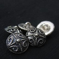 Silver Anglo-Saxon buttons from The Sunken City by DaWanda.com