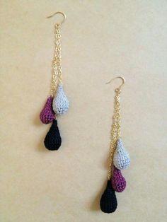 Crochet Jewelry Patterns, Crochet Earrings Pattern, Crochet Flower Patterns, Crochet Bracelet, Crochet Accessories, Crochet Flowers, Diy Earrings, Earrings Handmade, Handmade Jewelry