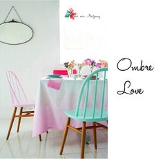 For the love of ombre. Home. Decor. Colours.
