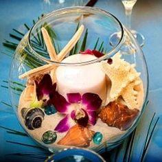 petit photophore dans une boule en verre sur le thème de la mer  #mer #mariage #boules #étoile