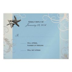 =>>Cheap          	Starring Starfish Blue Wedding Invitation RSVP           	Starring Starfish Blue Wedding Invitation RSVP we are given they also recommend where is the best to buyThis Deals          	Starring Starfish Blue Wedding Invitation RSVP today easy to Shops & Purchase Online - trans...Cleck Hot Deals >>> http://www.zazzle.com/starring_starfish_blue_wedding_invitation_rsvp-161996000339661983?rf=238627982471231924&zbar=1&tc=terrest