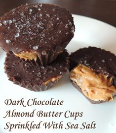 Dark Chocolate Almond Butter Cups Sprinkled With Sea Salt