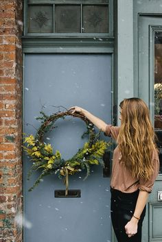 Wreath by Fox Fodder Farm   Nicole Franzen   by Nicole Franzen Photography - we've recently moved to a new state and are making our new home feel as dreamy as possible. i think the finishing touch will have to be a beautiful & unique wreath for our front door. something like this would be perfect <3