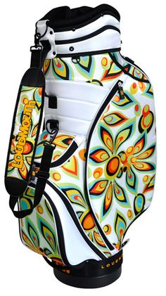 Shagadelic White Loudmouth Cart Bag has finally arrived! Prepare yourself for a golf bag with the best and brightest in Loudmouth patterns. Made from the highest quality materials, these cart bags are durable, functional and stylish. #lorisgolfshoppe