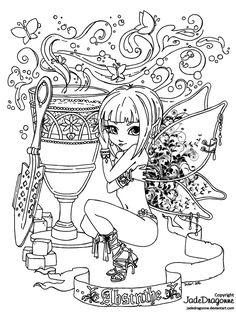 The Green Fairy - Lineart by JadeDragonne on deviantART