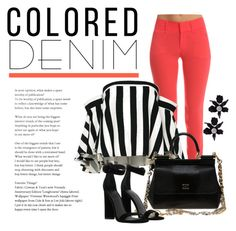 """Colored jeans"" by quicherz on Polyvore featuring rag & bone, Milly, Dolce&Gabbana, Kendall + Kylie, Lele Sadoughi and coloredjeans"