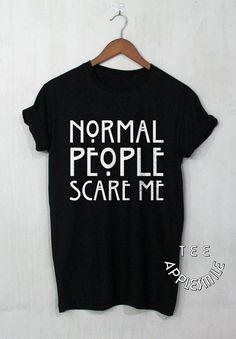 Les gens normaux Me font peur chemise drôle t shirt tee Unisexe Vêtements…