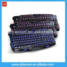 Best English Version Tri-color LED Backlight Flyingcolors Mechanical Touch Gaming Advanced Keyboard Game Keyboard for PC Laptop #Best_Laptop, #gaming