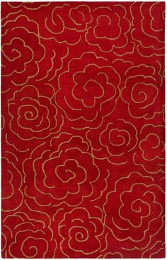 Buy the Safavieh Red Direct. Shop for the Safavieh Red Soho x Rectangle Wool Hand Tufted Contemporary Area Rug and save. Clearance Rugs, Contemporary Area Rugs, Contemporary Homes, Floral Rug, Floral Motif, Red Rugs, Wool Area Rugs, Wool Rugs, Runes