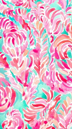Lilly Pulitzer Palm Beach Coral Wallpaper Pinterest